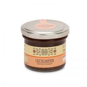 Liccaldumini pesche e vaniglia - Marmellata sarda - Selezione Delphina